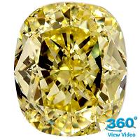 Cushion Cut Diamond 1.70ct - Fancy Yellow VS2