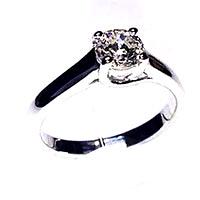 'Trellis' Diamond Engagement Ring - Round 0.57ct - H SI2