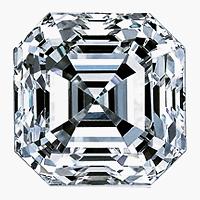 Asscher Cut Diamond 1.00ct - H SI1