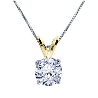 Round Diamond Pendant - 0.60 carats