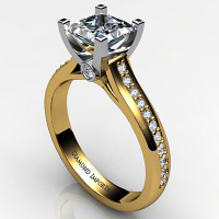 Princess Diamond Accent Ring