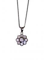 Round Diamond Flower Pendant - 0.39ctw F/G SI