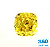 Cushion Cut Diamond 2.00ct - Fancy Vivid Yellow VVS1