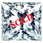 Princess Cut Diamond 0.42ct - D VS1