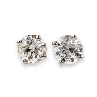 Old Cut Diamond Stud Earrings - 0.32 carats total