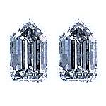 Tapered Bullet Diamond Pairs 0.49ct - E/F VS
