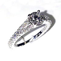 'Roxanne' Diamond Engagement Ring - 1.34cts