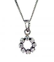 Circle Diamond Pendant 0.16ctw - F/G