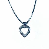 Heart Shape Diamond Pendant - 0.50ct F/G VS