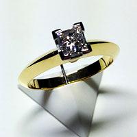 'Delia' Diamond Engagement Ring - Princess 0.50ct E VVS2