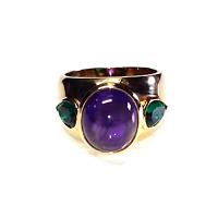 Amethyst & Emerald Dress Ring