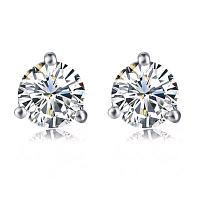 Diamond Stud Earrings - 1.42 carats total H/I SI2 - GIA Certified