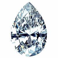 Pear Shape Diamond 0.41ct - D IF