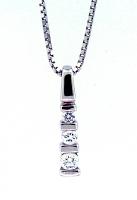 3 Stone Diamond Pendant 0.18ctw - H SI1