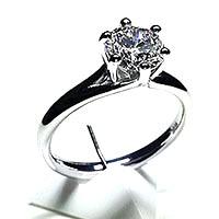 'Alana' Diamond Engagement Ring -  0.80ct - F I1