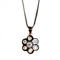 Round Diamond Flower Pendant - 0.24ctw H VS