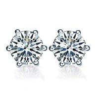 Diamond Stud Earrings - 2.02 carats total G SI2 - GIA Certified