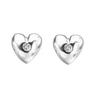 Heart Shape Diamond Ear Studs - 0.25 carats total
