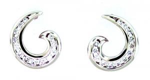 Fancy Diamond Swirl Earrings - 0.51 carats total