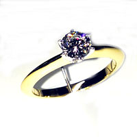 'Classic' Diamond Engagement Ring - Round 0.55ct - K SI1