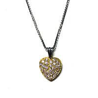 Heart Shape Diamond Pendant - 0.38ct F/G VS