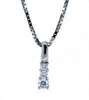 3 Stone Diamond Pendant 0.19ctw - H SI1