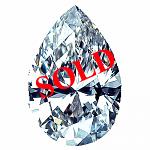 Pear Shape Diamond 0.25ct - D IF