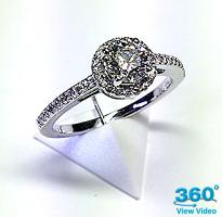 'Halo' Diamond Dress Ring - 0.76cts