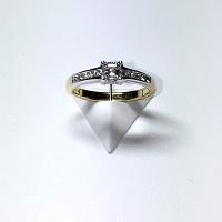 'Azar' Diamond Engagement Ring - Asscher 0.33ct - F VVS2