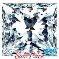Princess Cut Diamond 1.35ct - E SI1