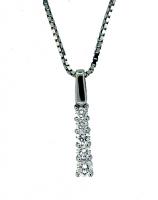 5 Stone Diamond Pendant 0.28ctw - H SI