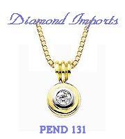 Double Bezel Diamond Pendant 0.20ct - F SI1