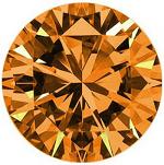 Round Brilliant Cut Argyle Diamond 2.06ct - Fancy Orange Brown VS1