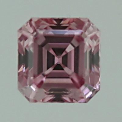 Asscher Cut Diamond 0 70ct Fancy Intense Purplish Pink
