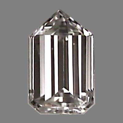 Bullet Cut Diamond 0.32ct - H VVS2 - Diamond Imports