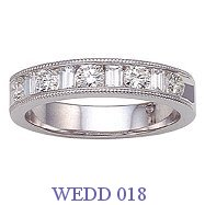 Diamond Wedding Ring - WEDD 018