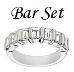 Diamond Bar Set Rings