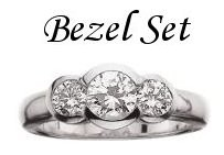 Diamond Bezel Set Rings