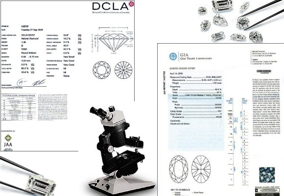 Certified Diamonds - Diamond Certificates