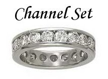 Diamond Channel Set Rings