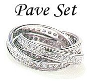 Diamond Pave Set Rings